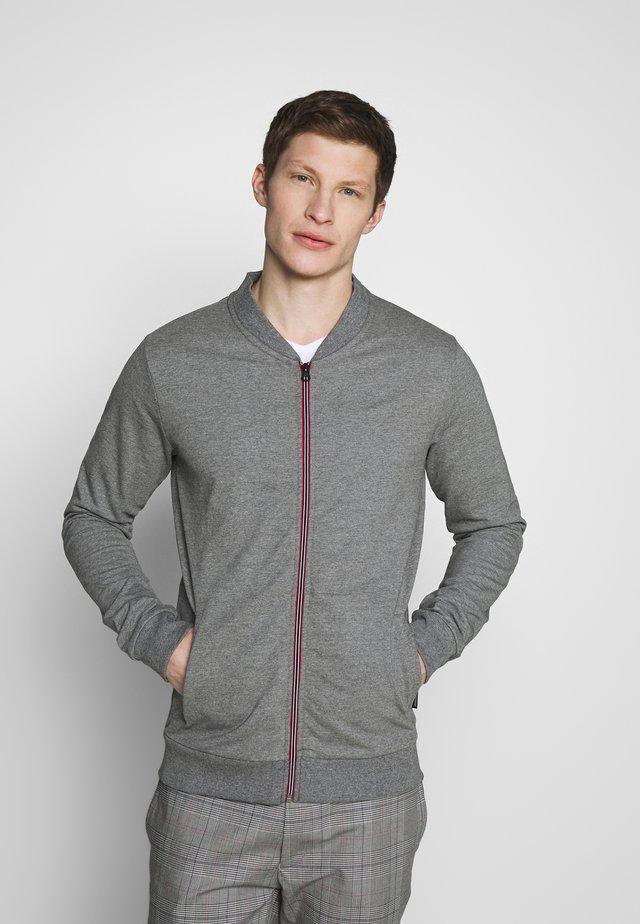 ANGUS - Zip-up hoodie - steel gray