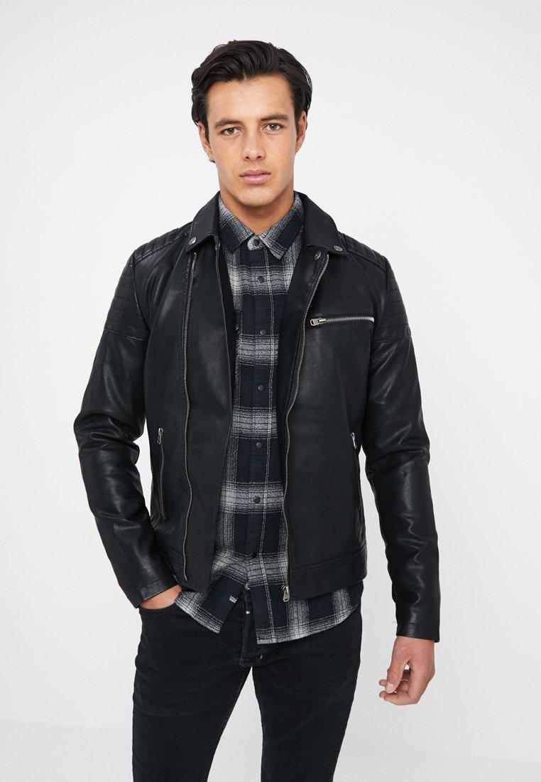 Tiffosi - WAYNE - Imitatieleren jas - black