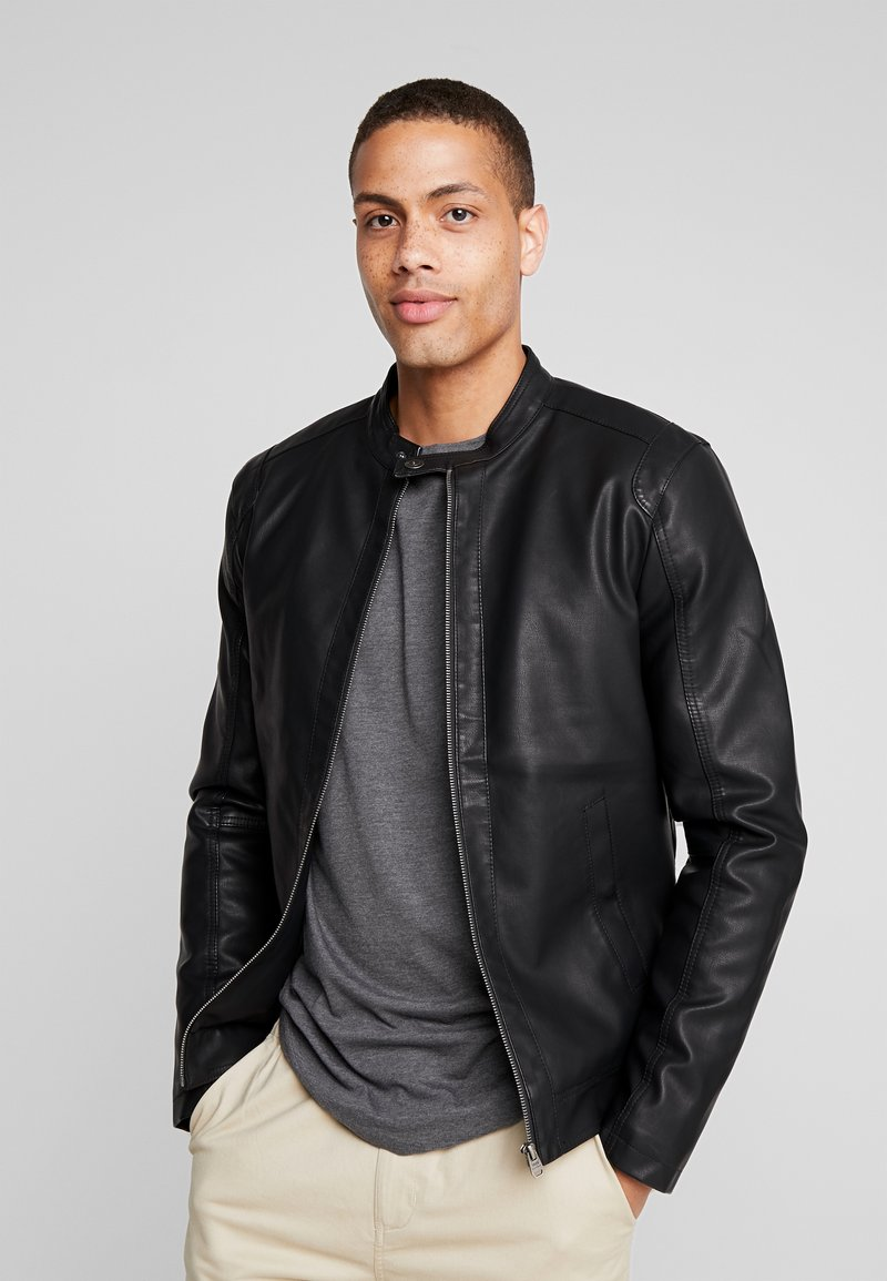 Tiffosi - EAGLE - Faux leather jacket - black