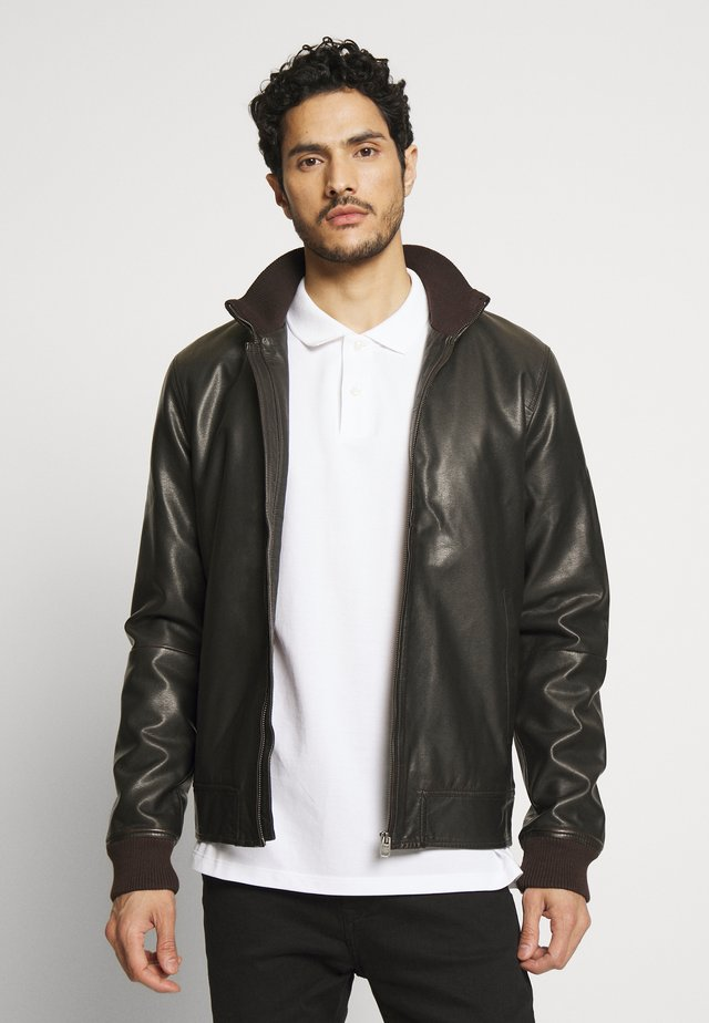 PAXTON - Faux leather jacket - after dark