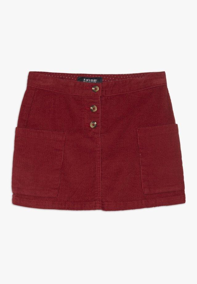 MARY - A-line skirt - vermelho
