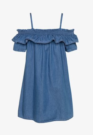 POPPY - Robe en jean - denim medium indigo wash