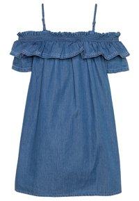 Tiffosi - POPPY - Robe en jean - denim medium indigo wash - 1