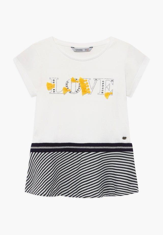 HAITY - T-shirt con stampa - beige