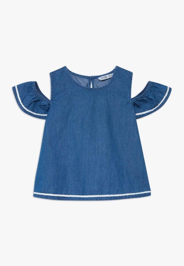 PARISIENNE - Camicia - denim medium indigo wash