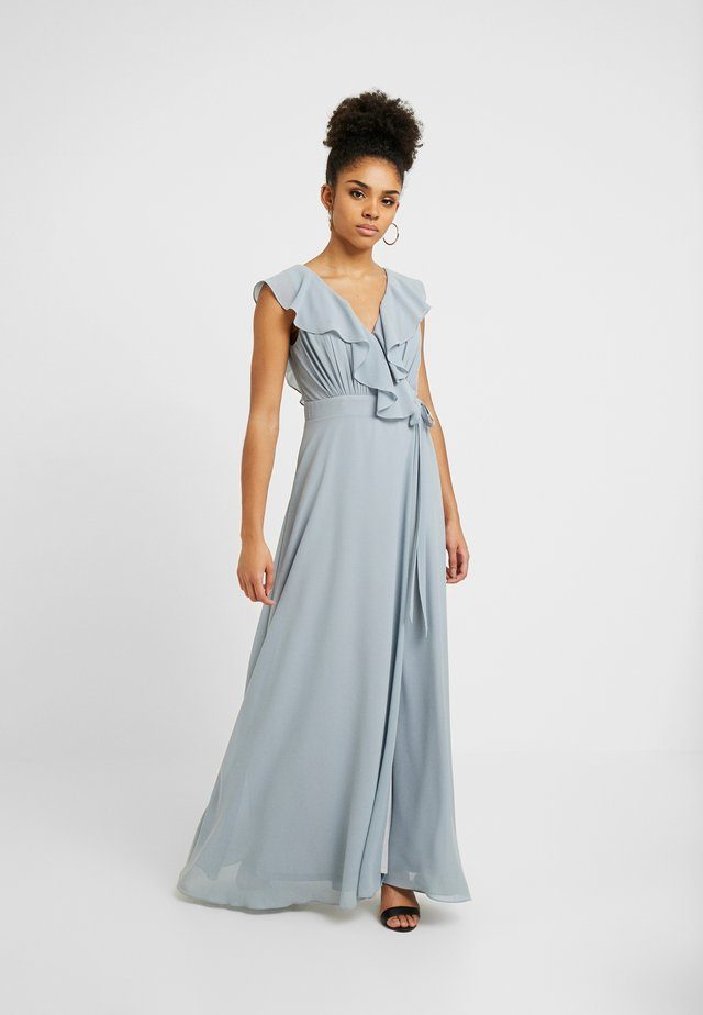 JANEAN MAXI WRAP - Robe de cocktail - grey blue
