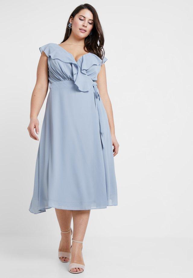 EXCLUSIVE JANEAN MIDI DRESS - Cocktailjurk - grey blue