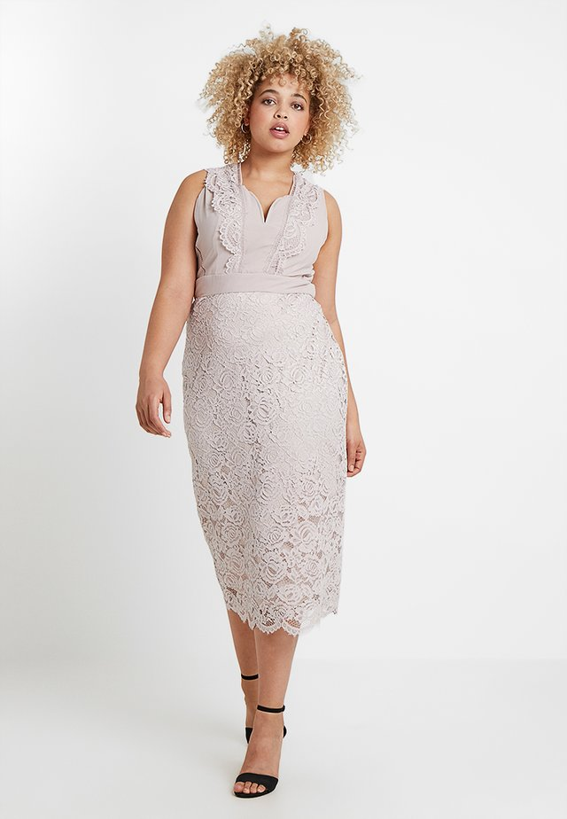 EXCLUSIVE OHANNA MIDI LACE DRESS - Cocktailjurk - whisper pink