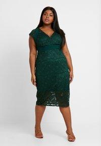 TFNC Curve - VERYAN DRESS - Cocktailkjole - jade green - 0