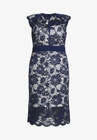 TFNC Curve - SALKA MIDI DRESS - Cocktailklänning - navy/nude - 4
