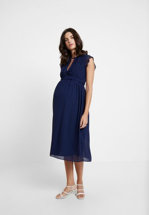 EXCLUSIVE FINLEY MIDI DRESS - Vestido de cóctel - navy