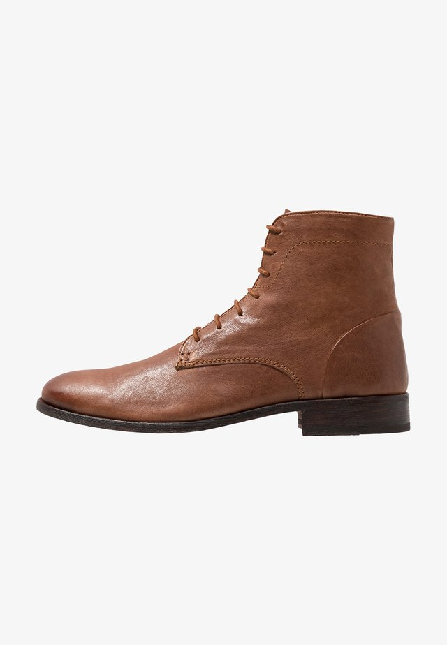Schnürstiefelette - light brown