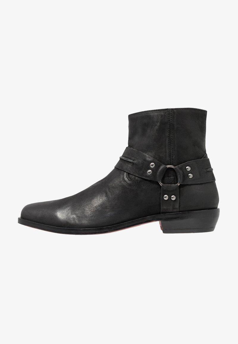 Tigha - Cowboy- / bikerstøvlette - black