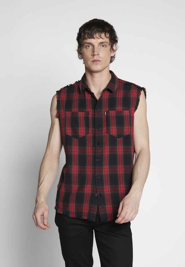 LIAN - Camisa - black/red