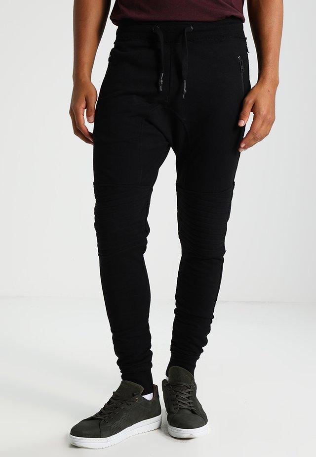 TREVOR ZIP - Teplákové kalhoty - black