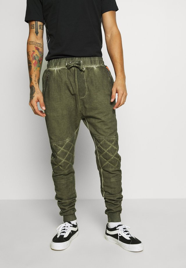 EINAR - Teplákové kalhoty - military green