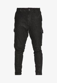 Tigha - ZENO - Spodnie skórzane - black - 3