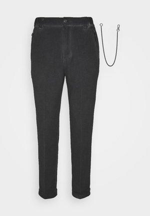 CORNELIO - Spodnie materiałowe - vintage black