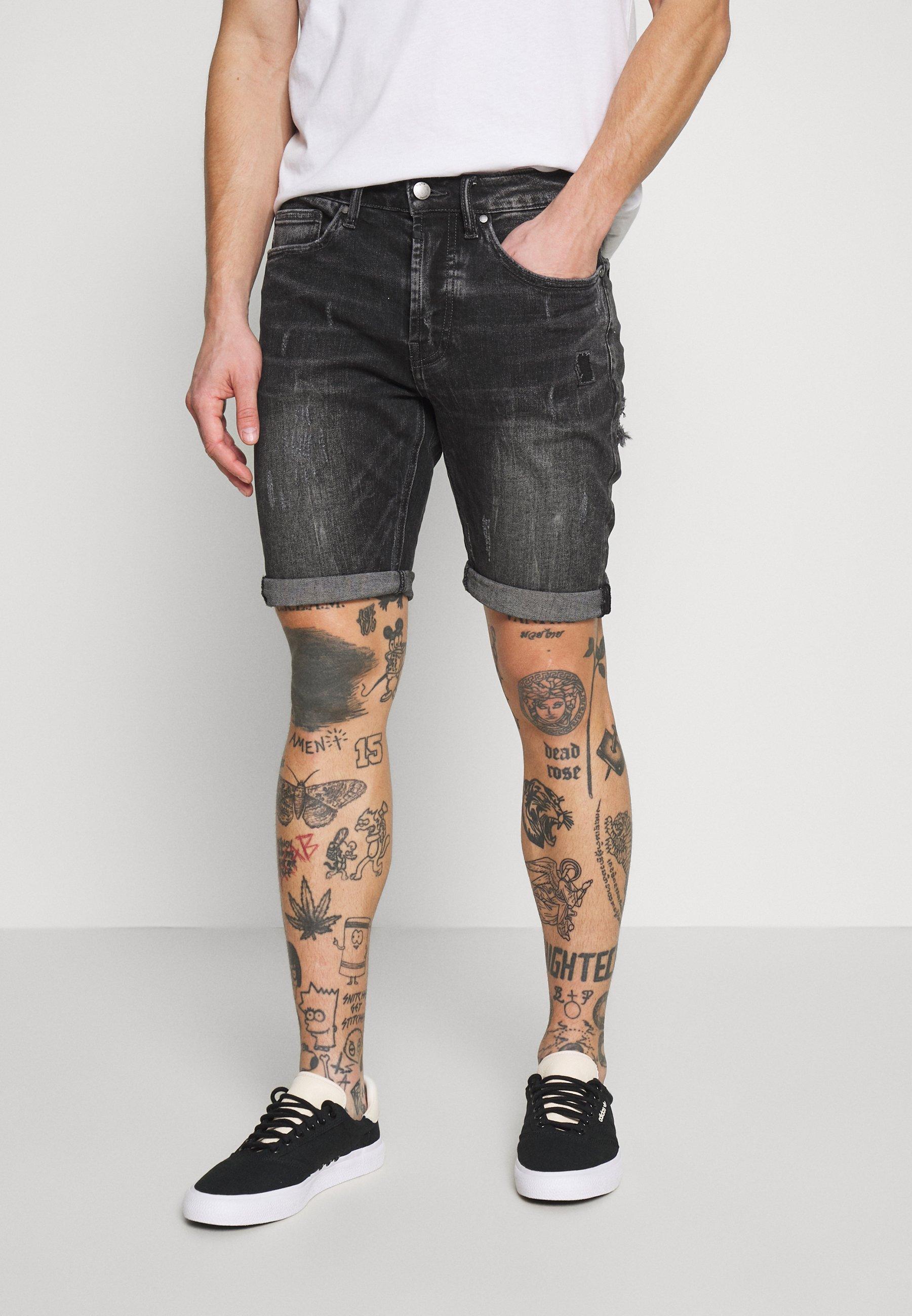 Tigha SOLOMON - Szorty jeansowe - dark grey