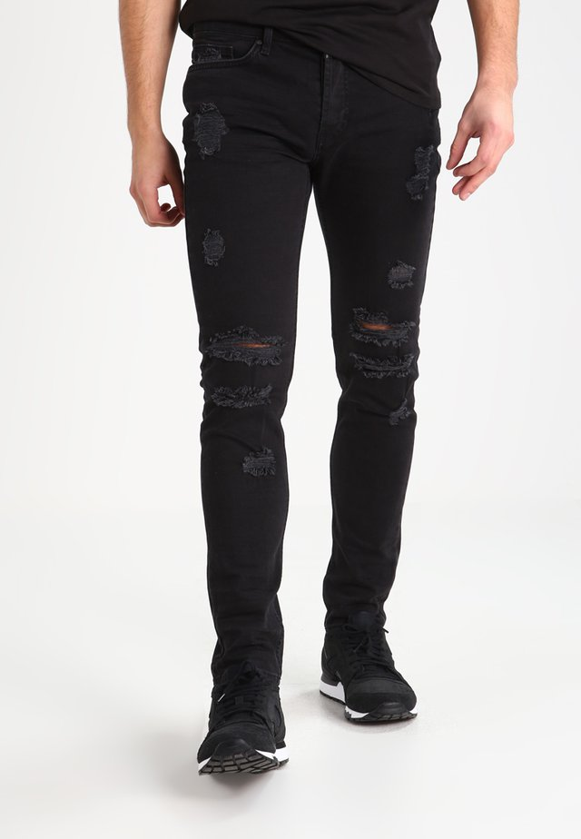 MORTEN  - Vaqueros slim fit - vintage black