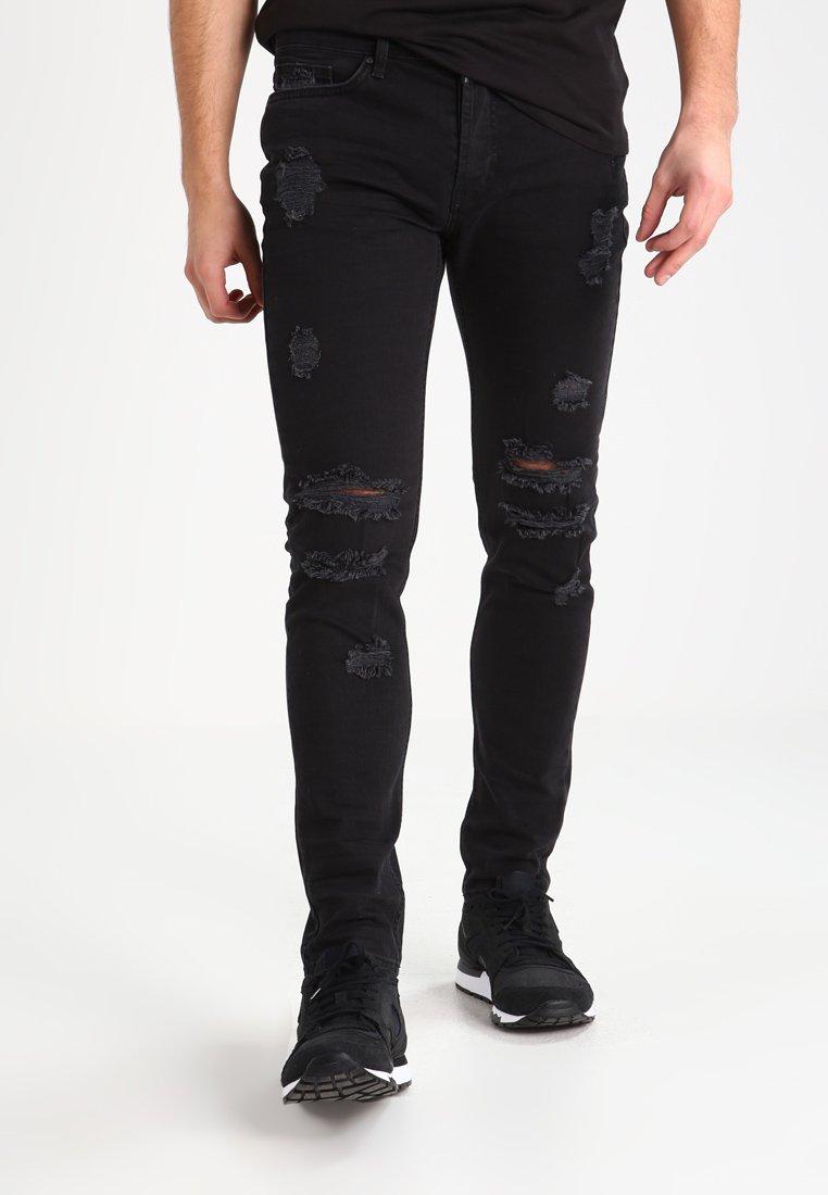 Tigha - MORTEN  - Jeansy Slim Fit - vintage black