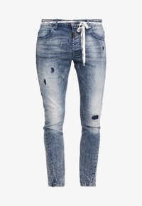 Tigha - BILLY THE KID PATCHED - Jeans Skinny Fit - mid blue - 4