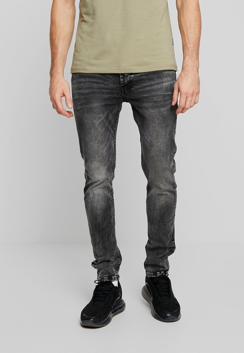 Tigha - MORTY - Jeansy Skinny Fit - mid grey