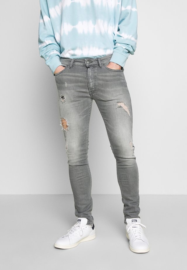 MORTEN - Jeansy Slim Fit - mid grey