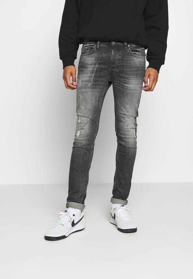 MORTEN DESTROYED - Jeans Skinny Fit - darkgrey