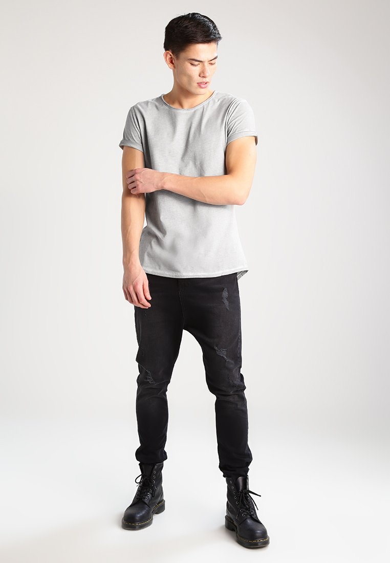 Tigha MILO - T-shirt basic - vintage silver grey