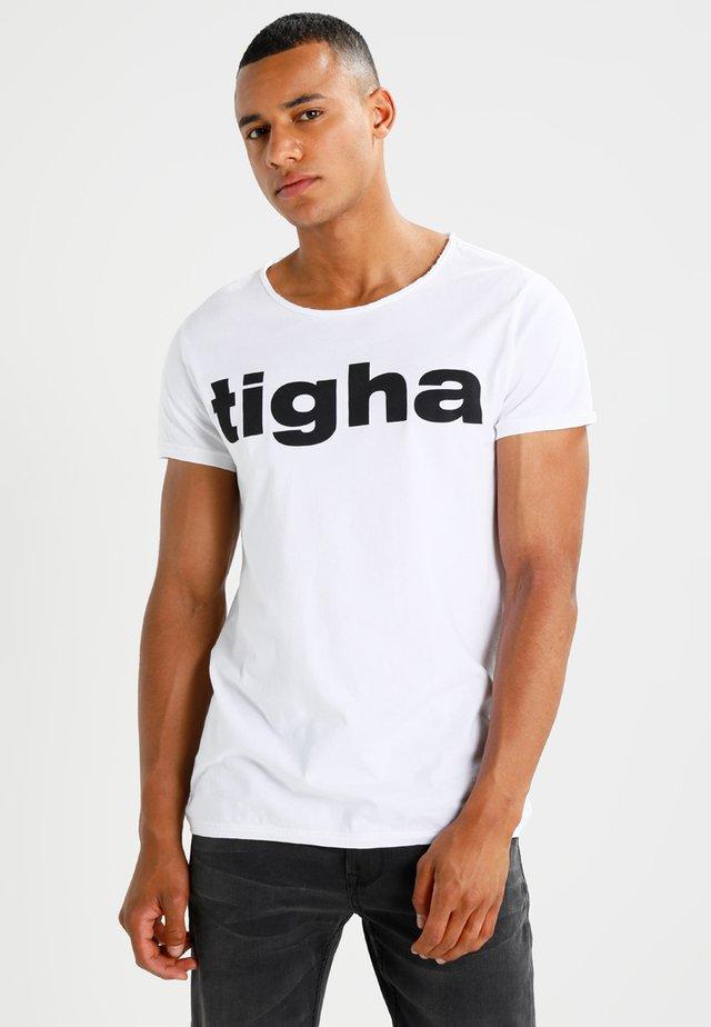 LOGO - T-shirt med print - white