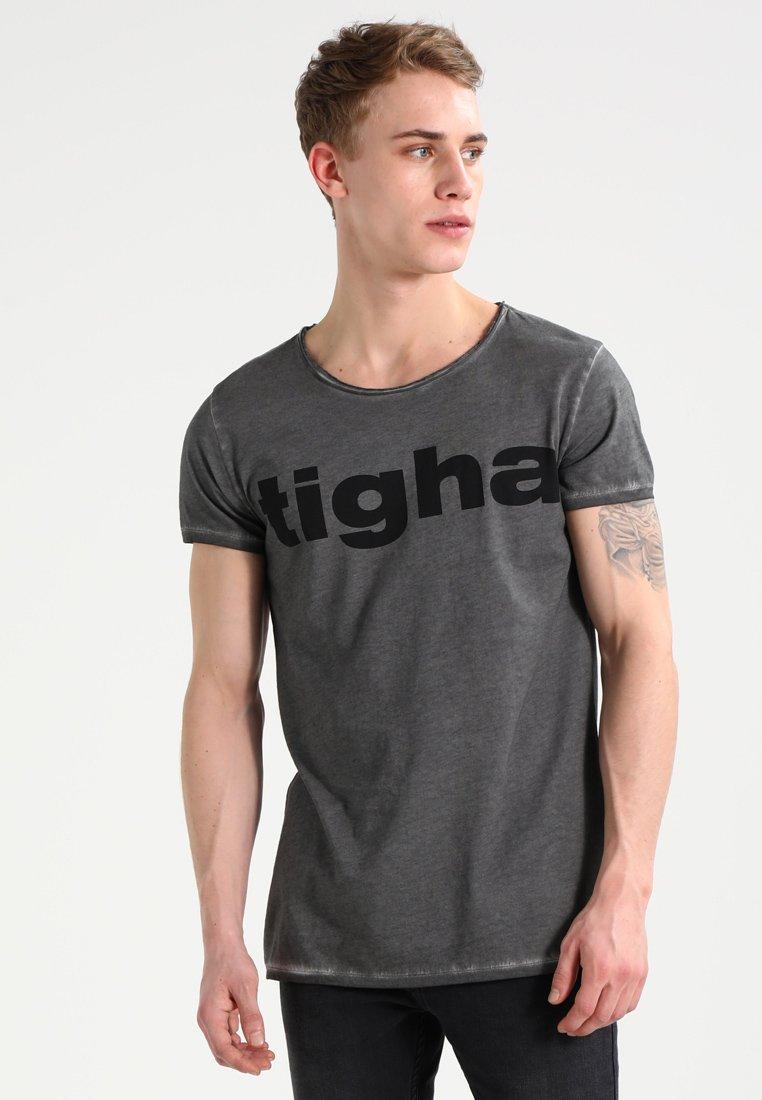 Tigha - LOGO - T-Shirt print - vintage grey
