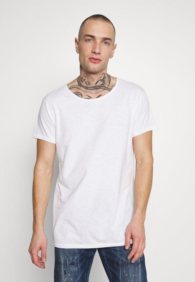VITO SLUB - T-shirt med print - white