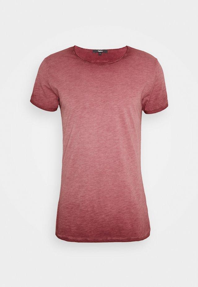 VITO SLUB - T-shirt imprimé - vintage bordeaux