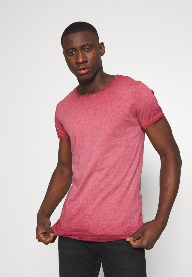 VITO SLUB - T-shirt med print - vintage bordeaux