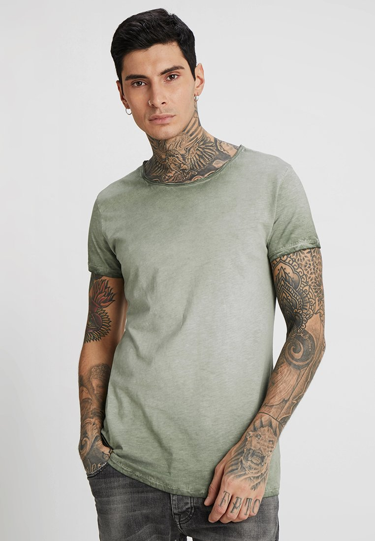 Tigha - VITO SLUB - Camiseta estampada - military green