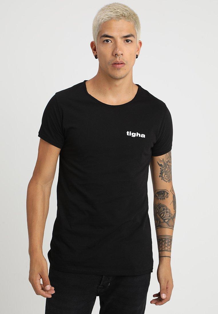 Tigha - WOLFGANG - T-Shirt print - black