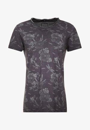 CHRISTIAN - T-shirt print - black flowers