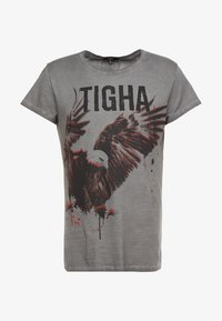 Tigha - PAINTED EAGLE - T-shirts med print - vintage grey - 3