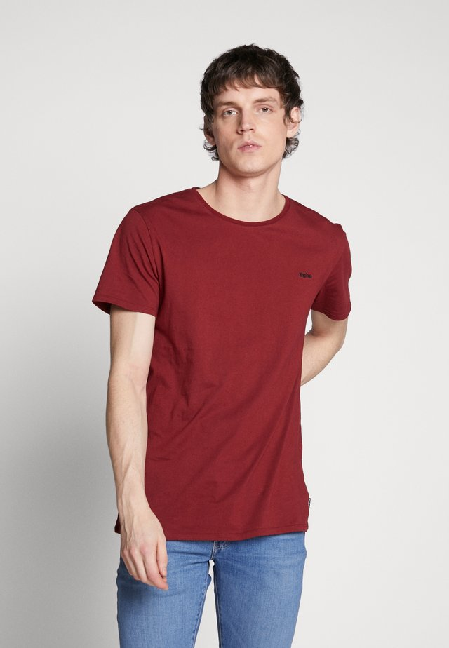 HEIN - T-Shirt basic - bordeaux