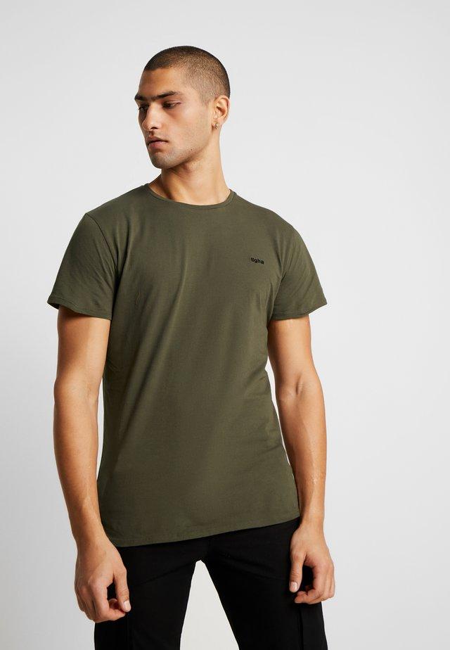 HEIN - Jednoduché triko - oily green