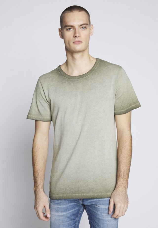 LAFAN - T-shirt med print - vintage oily green
