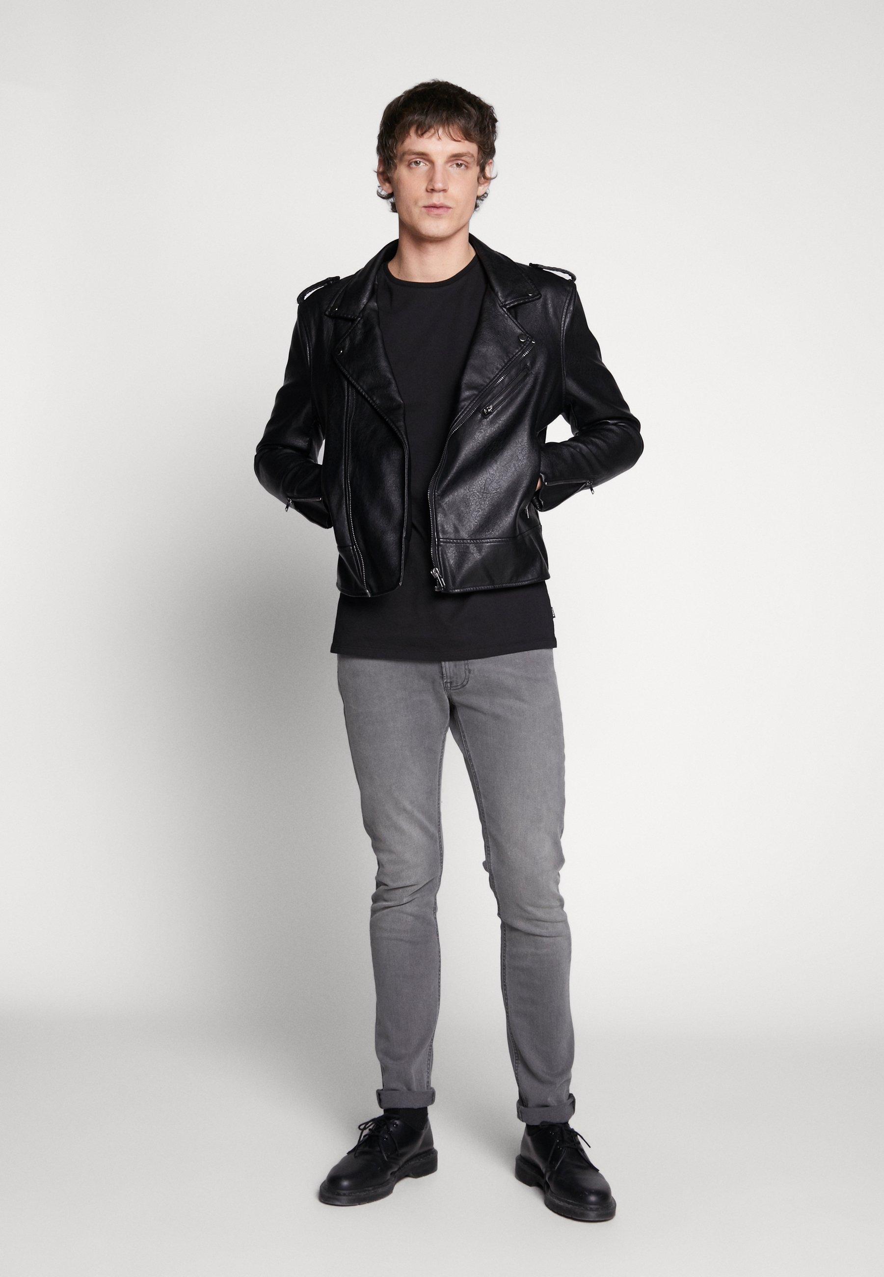 Tigha HEIN LONG SLEEVE - Bluzka z długim rękawem - black