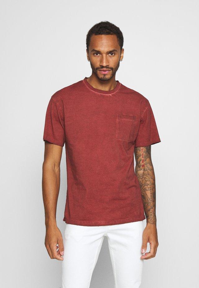 ALESSIO - T-shirts basic - vinatge bordeux