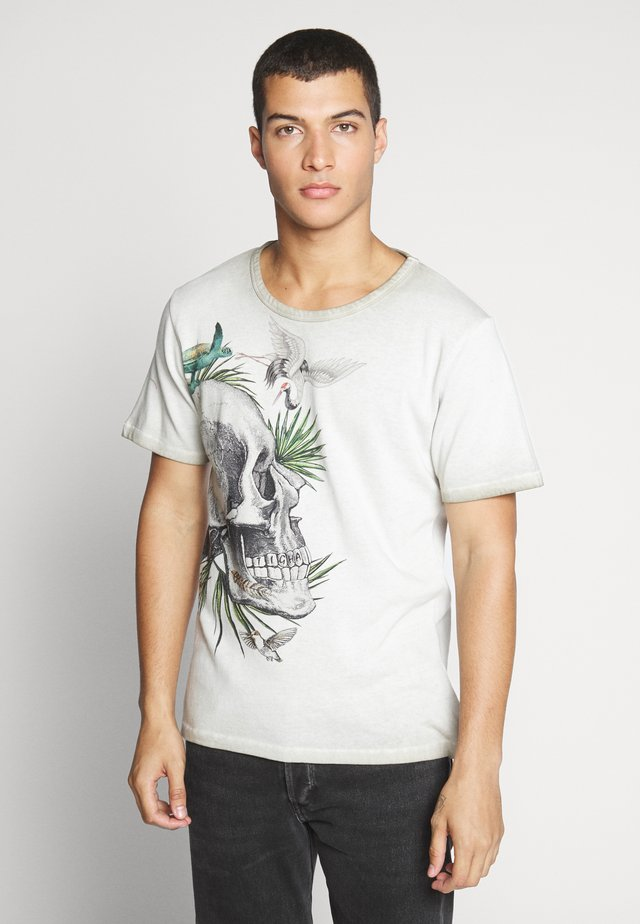 SKULL IN PARADISE - Camiseta estampada - vintage light sand