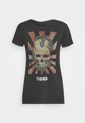 SNAKE SKULL WREN - T-shirt z nadrukiem - vintage black