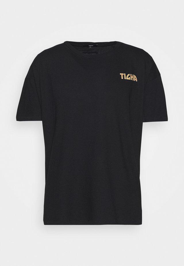 FLASHES ARNE - T-shirt imprimé - black