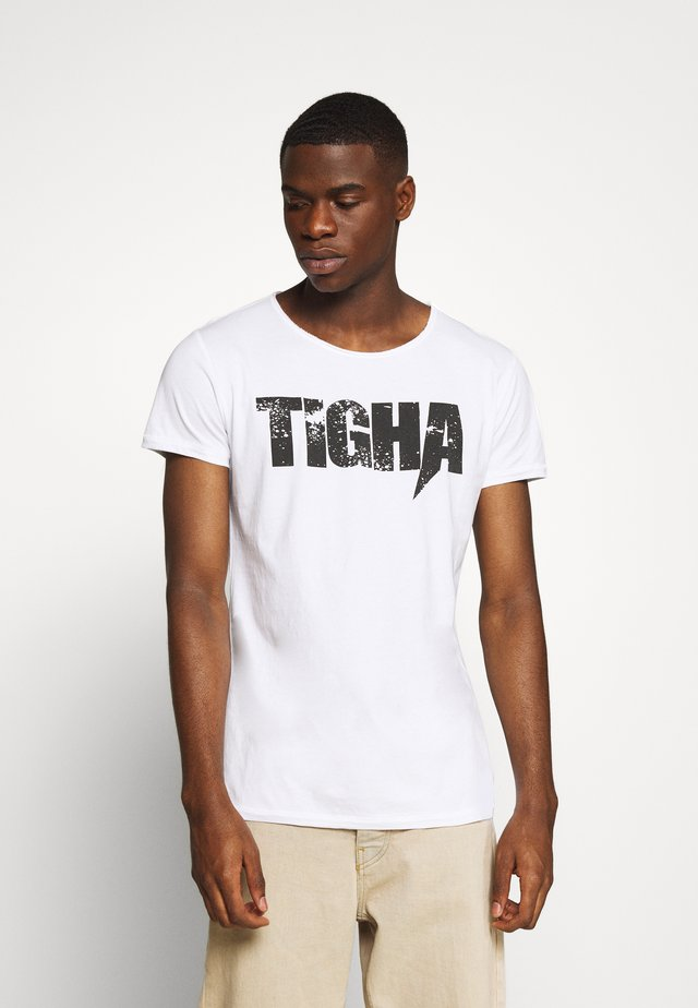 TIGHA LOGO SPLASHES - Printtipaita - white