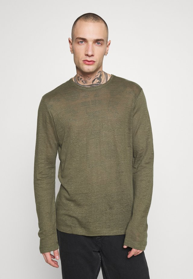 ASHLEY - Long sleeved top - light military green