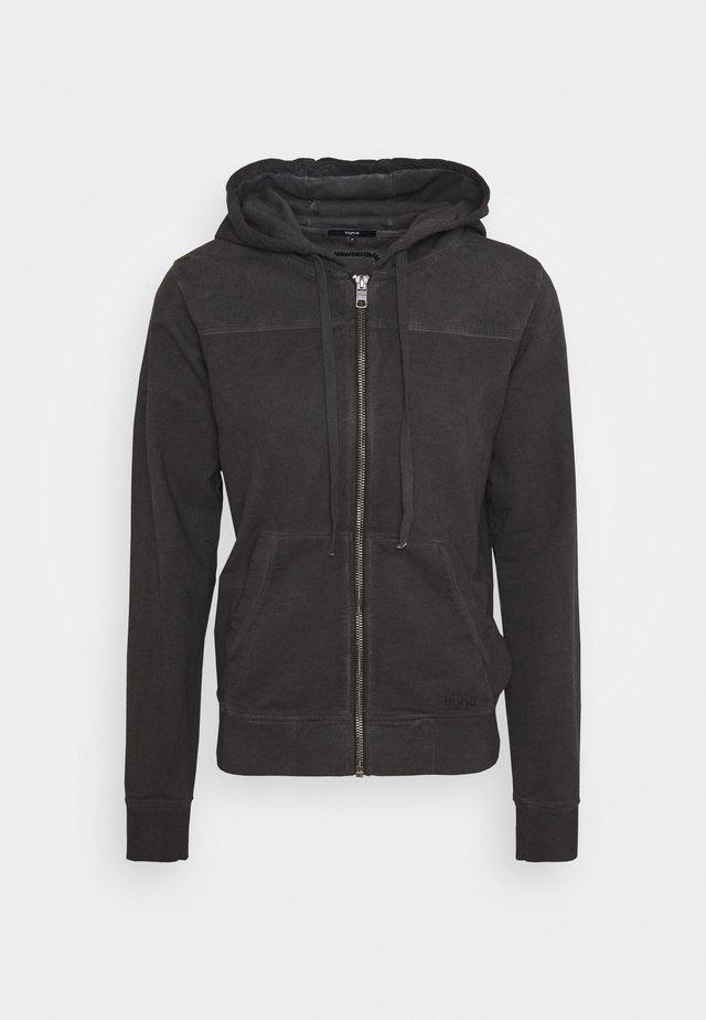 WYATT - Mikina na zip - vintage black